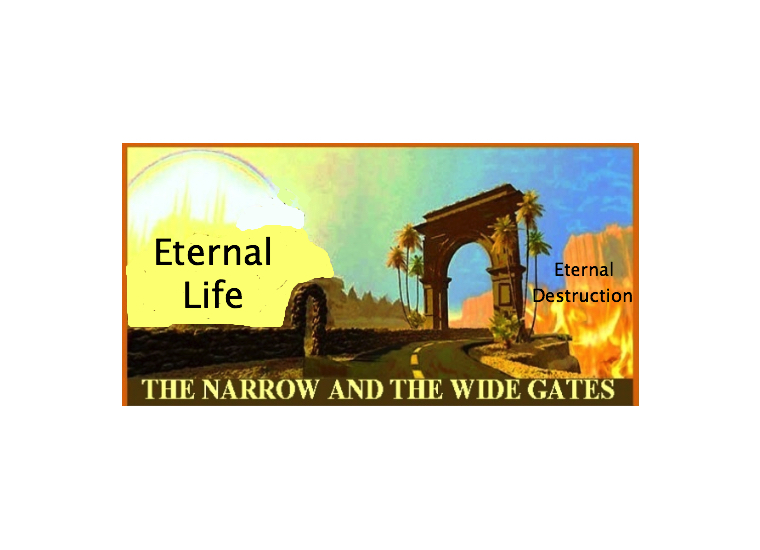 What are the narrow and wide gates in Matthew 7:13-14?