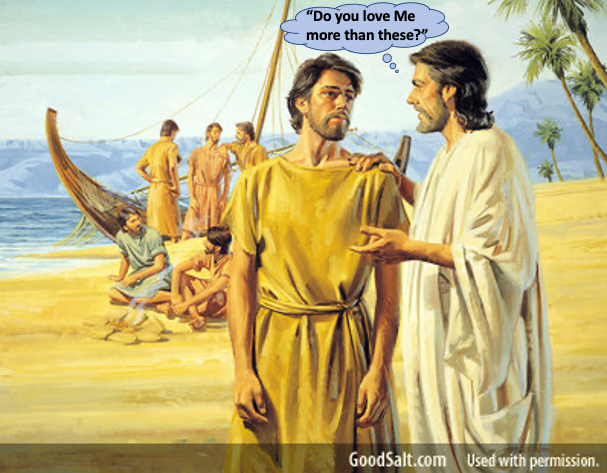 How does the risen Lord Jesus use us to make a difference in peoples' lives after we fail? Part 1